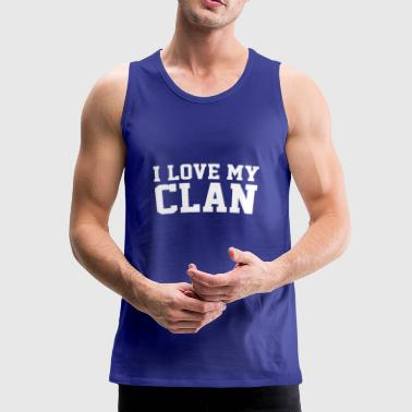 Jeg elsker min Clan Family Reunion - Premium singlet for menn