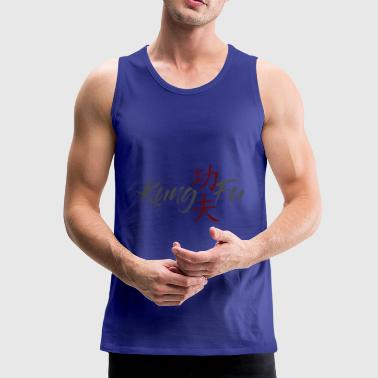 Kung Fu Writing - Premium singlet for menn