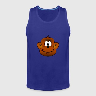 Cute Monkey Chimpanzee Monkey - Men's Premium Tank Top