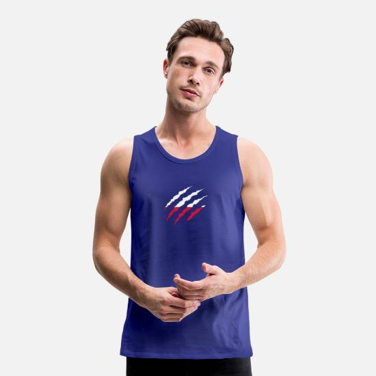 Root Tank Tops - Claw Claw Country Poland png - Men's Premium Tank Top royal blue