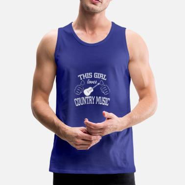 Country this girl loves country music - Men's Premium Tank Top