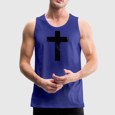 Cross Grunge Cross / Cross - Men's Premium Tank Top