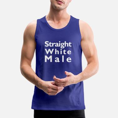 Straight White Male (front print white) - Men's Premium Tank Top