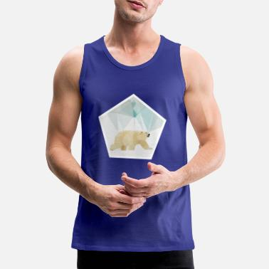 Polarbear polygon - Men's Premium Tank Top