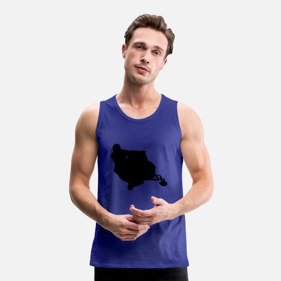 New Tank Tops - snowmobile snow cross x games racing sport - Men's Premium Tank Top royal blue