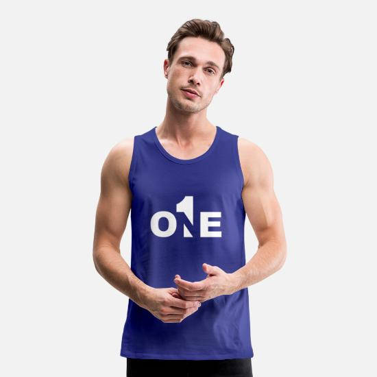 Birthday Tank Tops - Number One - Number One - 1 - No1 - # 1 - First - Men's Premium Tank Top royal blue
