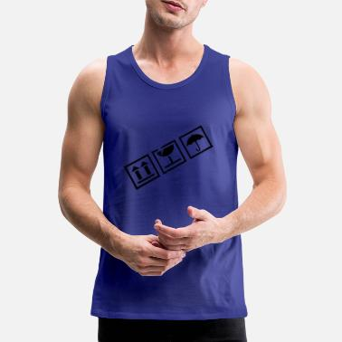 Sender Shipping Fagile Fragile (black) - Men's Premium Tank Top
