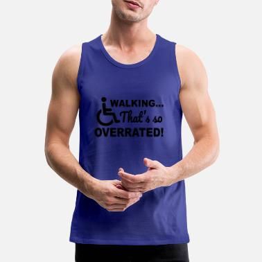 Walkingoverrated1 - Mannen premium tank top