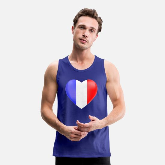 Sole Tank Tops - France heart - Men's Premium Tank Top royal blue