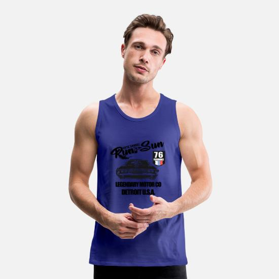 V8 Tank Tops - Muscle Car Patch Big - Men's Premium Tank Top royal blue