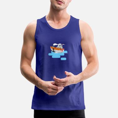 Tug boat 3d illustration - Men's Premium Tank Top