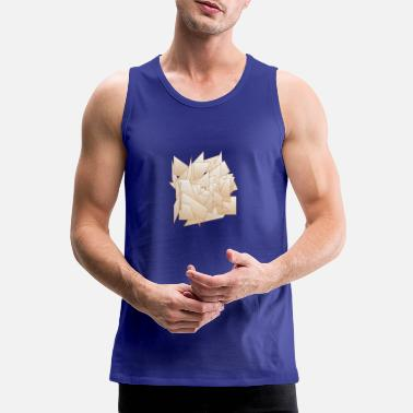 Paper Paper chaos - abstract paper form - Men's Premium Tank Top