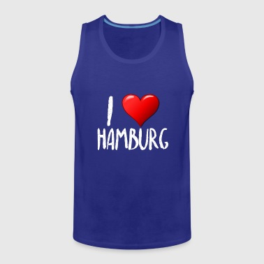 I Love Hamburg - Tank top męski Premium