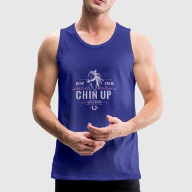 Keep calm, head up and heels down. - Men's Premium Tank Top