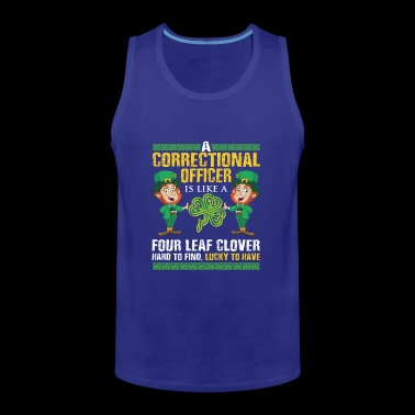 Funny St Patrick's Correctional Officer - Männer Premium Tank Top