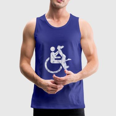 Roller chair driver sexy girlfriend - Men's Premium Tank Top