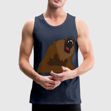 Growling Bear - Men's Premium Tank Top
