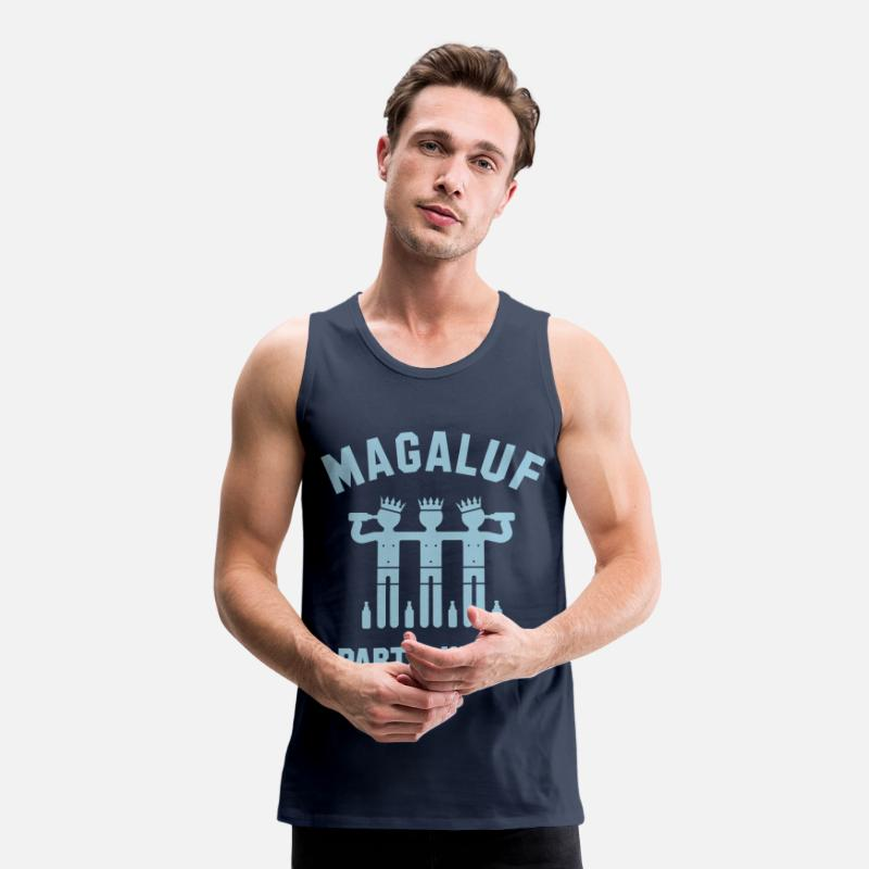 Mallorca Tank Tops - Magaluf Party-Kings (Party Holiday) - Men's Premium Tank Top navy