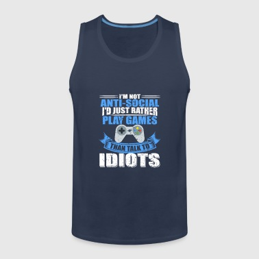 Juegos de regalo: Gamer Zocker Video Game Fan - Tank top premium hombre