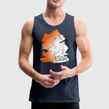 Gesicht 7 Orange (Serie The Look) - Männer Premium Tank Top