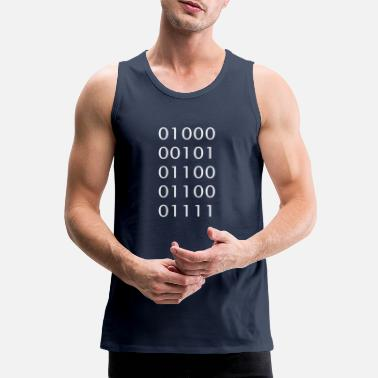 Binary code Ascii Hello - Men's Premium Tank Top