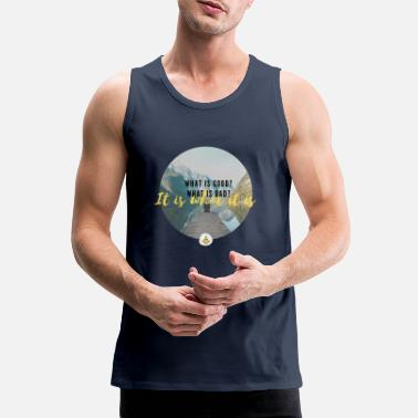 Sweet The Sweet Time Turtle - It is what it is print - Men's Premium Tank Top