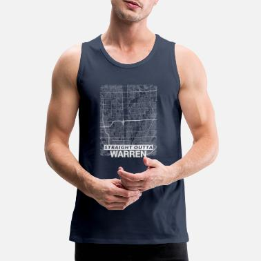 Perfect Straight Outta Warren city map and streets - Men's Premium Tank Top