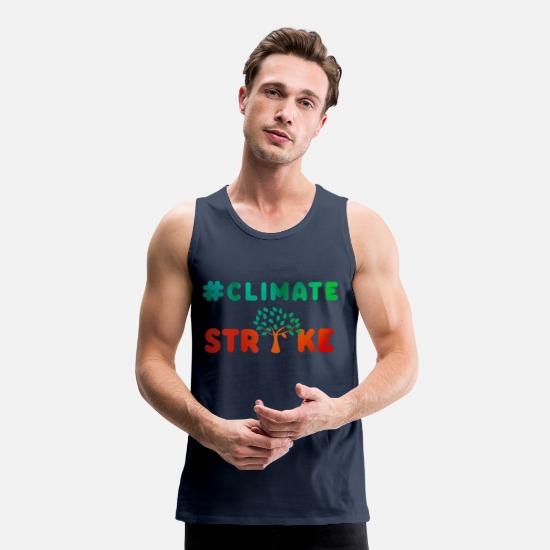 High School Graduate Tank Tops - ClimateStrike climate change environment school - Men's Premium Tank Top navy