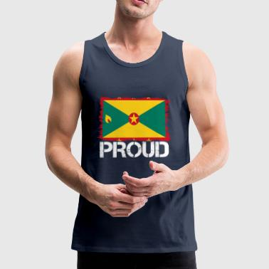 Pride flag flag home origin Grenada png - Men's Premium Tank Top