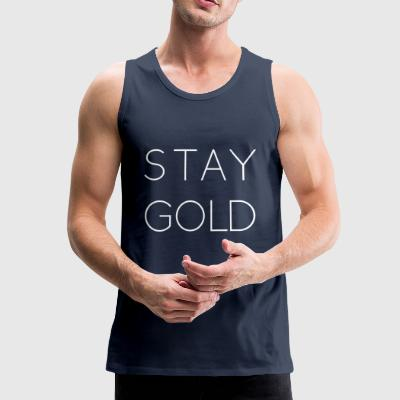 bli gull - Premium singlet for menn