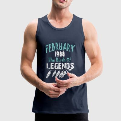 February 1988 The Birth Of Legends - Men's Premium Tank Top