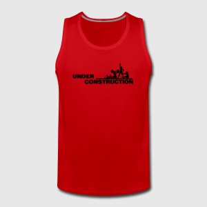 Workout - Motivational Under Construction Vector - Men's Premium Tank Top
