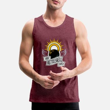 Lift Saint Kettlebell Church - if you like fit, gym - Premium tank top męski