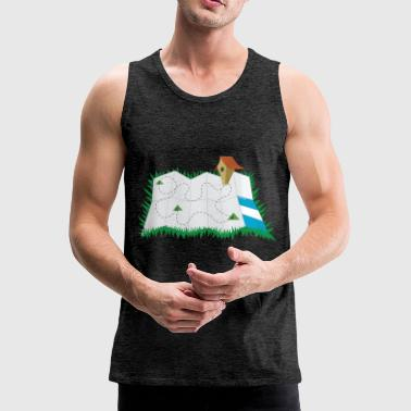 map - Men's Premium Tank Top