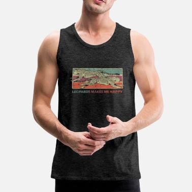 Leopard Leopards - Men's Premium Tank Top