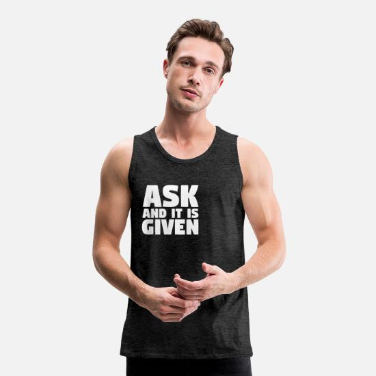 Right Tank Tops - Law of Attraction - Men's Premium Tank Top charcoal grey