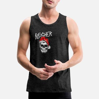 Sleigher Christmas Man Rockig Metal Gift - Men's Premium Tank Top