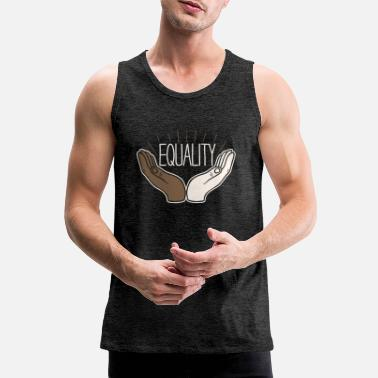 Equality Equality Equality Hands Drawing Godigart - Men's Premium Tank Top
