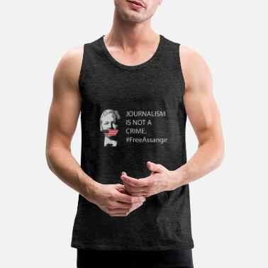 Assange Assange Journalism is not a crime - Männer Premium Tanktop