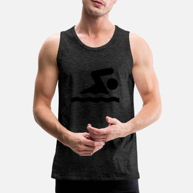 Vatten Swimming - Men's Premium Tank Top