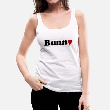 Tail Bunny with Heart - Women's Premium Tank Top