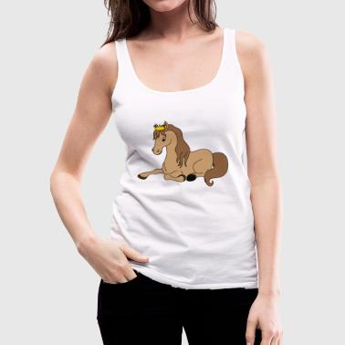 Cool Cute Funny Cool Horse Riding Rider - Women's Premium Tank Top