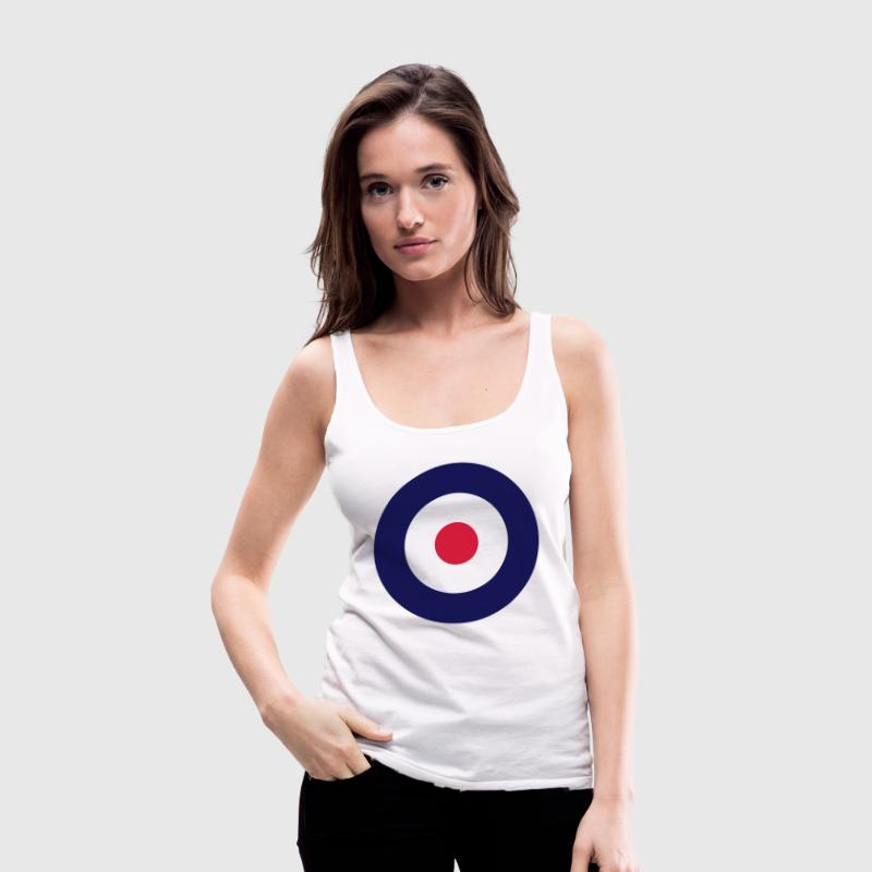 Mod Sign For White Shirts - Women's Premium Tank Top