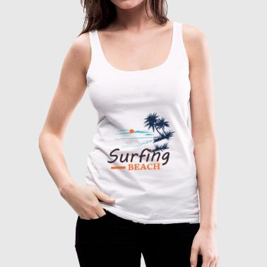 Surfing Beach - Women's Premium Tank Top