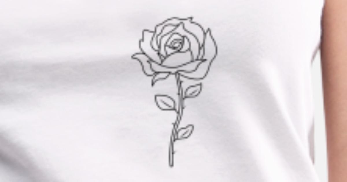 Rose Schwarz Weiss Tumblr Brusttasche Von Ekna Designs Spreadshirt