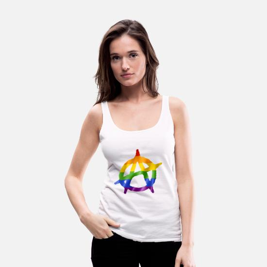 Bestsellers Q4 2018 Tank Tops - Anarchy - Women's Premium Tank Top white