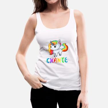 Chant Unicorn Chante - Women's Premium Tank Top