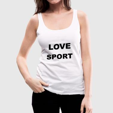 LOVE SPORT - Premium singlet for kvinner