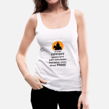 Country Cowboy, Western, Country Music, Horses, Line Dance - Women's Premium Tank Top