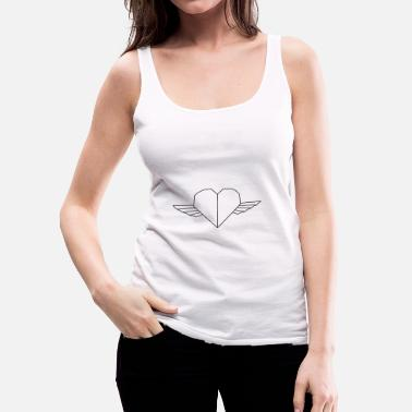 Heart With Wings Winged heart - Women's Premium Tank Top